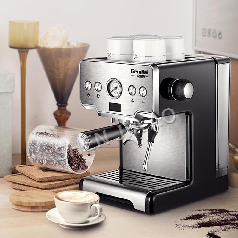 Edelstahl italienischer Kaffeemaschine Espressomaschine 15bar Haus halbautomatischer Pumpentyp Kaffeemaschine 1450W für Menschen