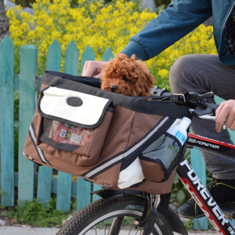 Pliable Tissu Oxford vélo Panier de bicyclette Sac guidon avant Boîte de chien Porte-Chat Bycicle Accessoires pour chien de la charge