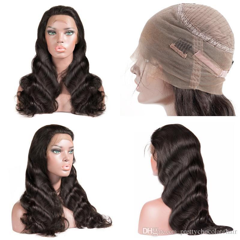 150 كثافة موجة الجسم البرازيلي ريمي 360 الجبهة الرباط غلويليس باروكات الشعر الإنسان مع شعر الطفل