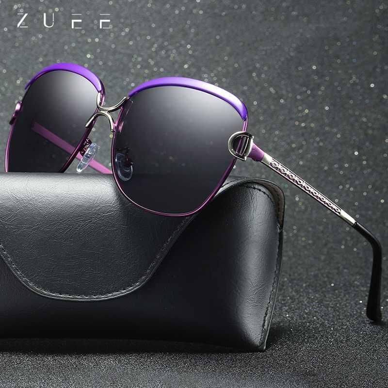 ZUEE поляризованные очки женские солнцезащитные очки Gradient Lens Круглые солнцезащитные очки óculos люнет Square чрезвычайно