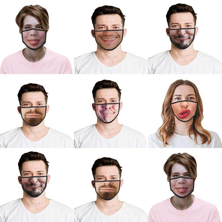 Protetora que cobre 3d cobrir metade do Poeira Men respirável Mouth reutilizável Face Face respirável face lavável Bandanas Impresso Mulheres Para biMZZ