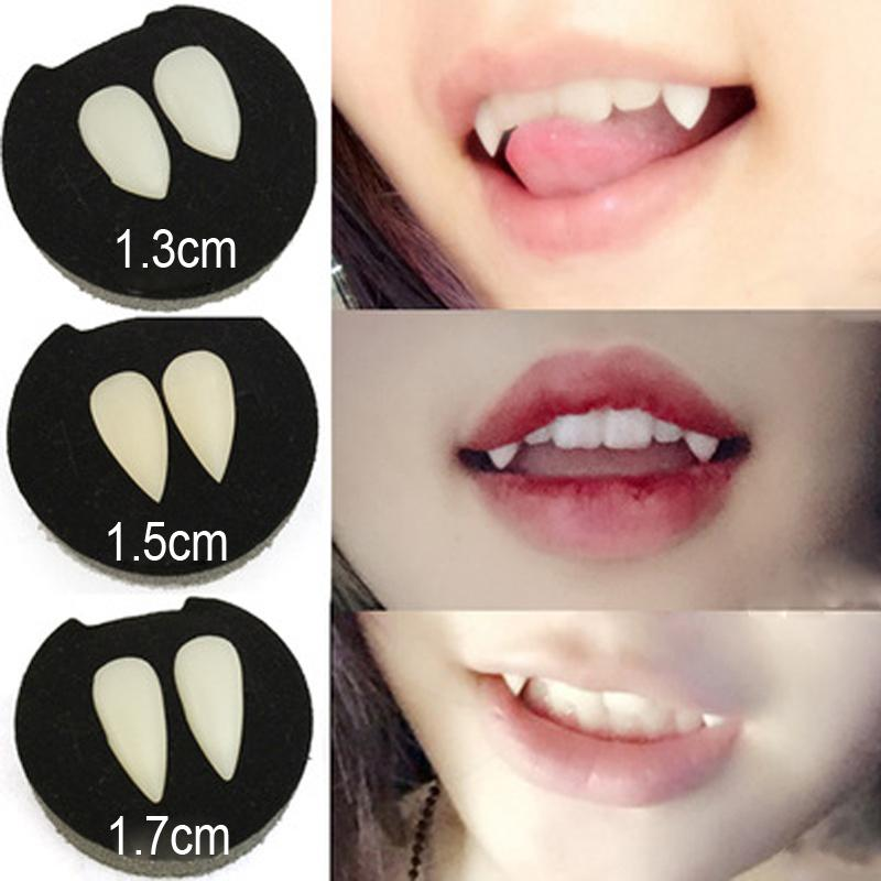 Ghost dientes de vampiro Halloween Party dentaduras Puntales vampiro Resina falso dientes Juguetes mascarada Juego de Roles maquillaje divertido de sangre BH2069 CY