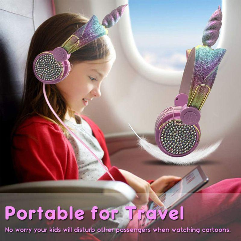 1 PC بنات السلكية سماعة جميلة الشكل سماعة الهاتف الكمبيوتر نقاط سماعة أطفال هدية