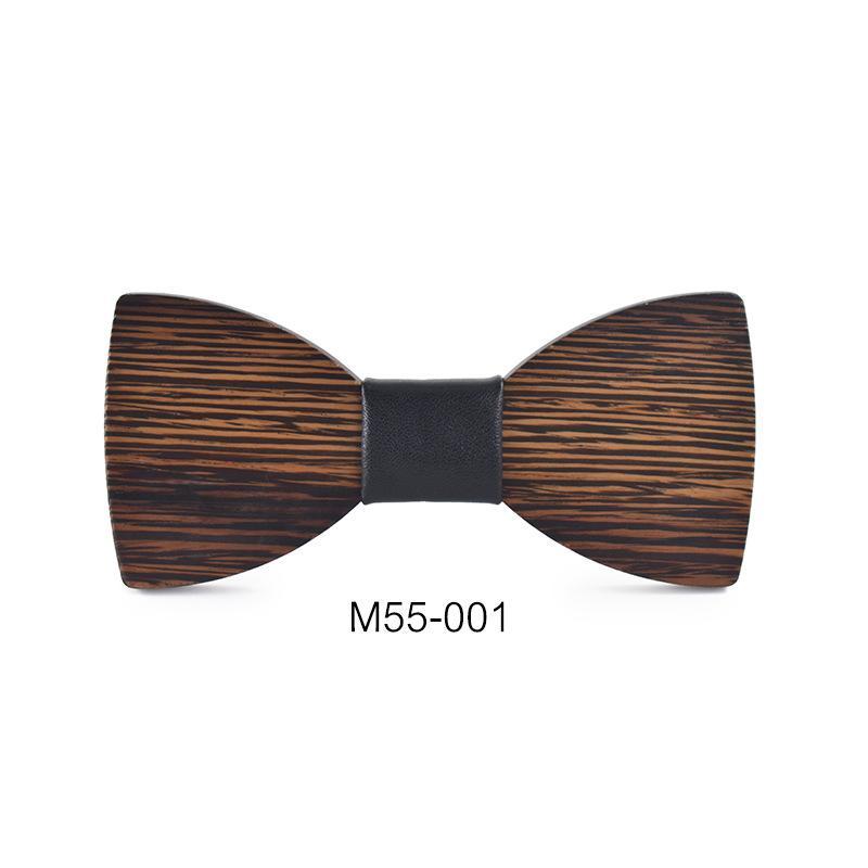 Linbaiway Mode Chemise Homme Bowtie nouveauté main Neckwear affaires papillon mariage en bois Gentleman Bowtie Accessoires