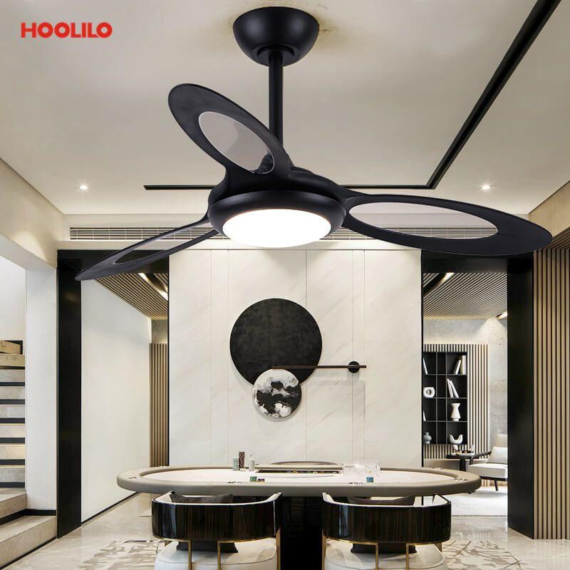 Ventilateurs électriques 44inch ventilateur de plafond avec lumières 110v 220V Télécommande SMART LED Ventilateur de Plafond rapide