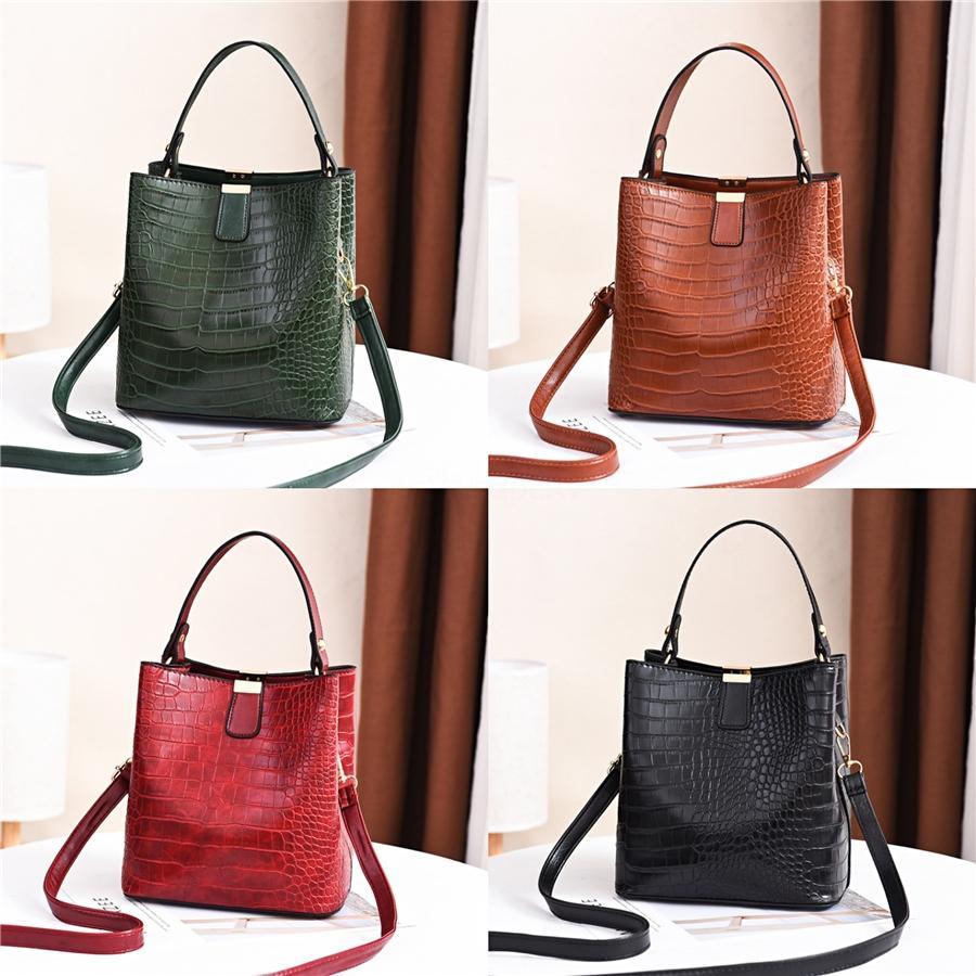 Nova 2020 Womens Leather Balde Drawstring Designer Lady Mensageiro Crossbody Bags venda # 746