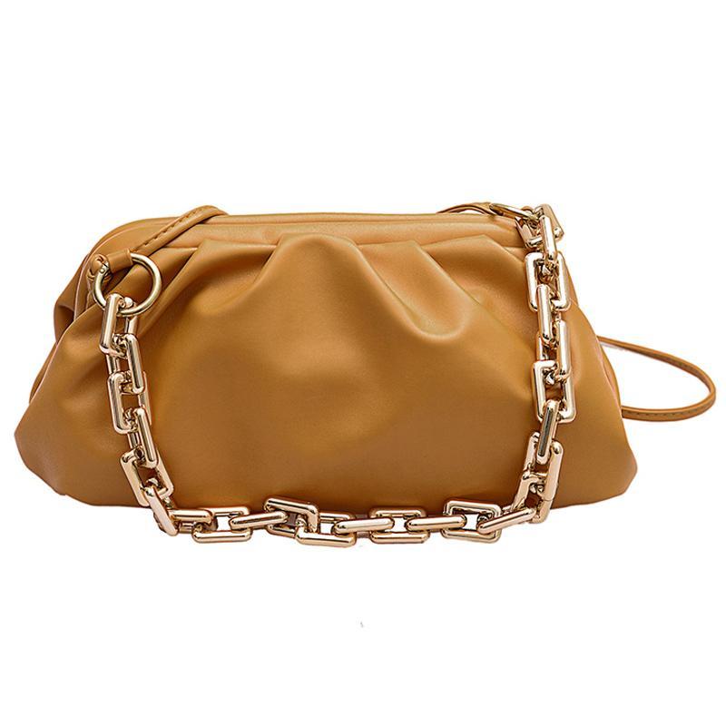 Kette Neue Crossbody Frauen Umhängetaschen PU Pure 2020 Mode Farbe Handtasche Weibliche Taschen Leder FDEQN