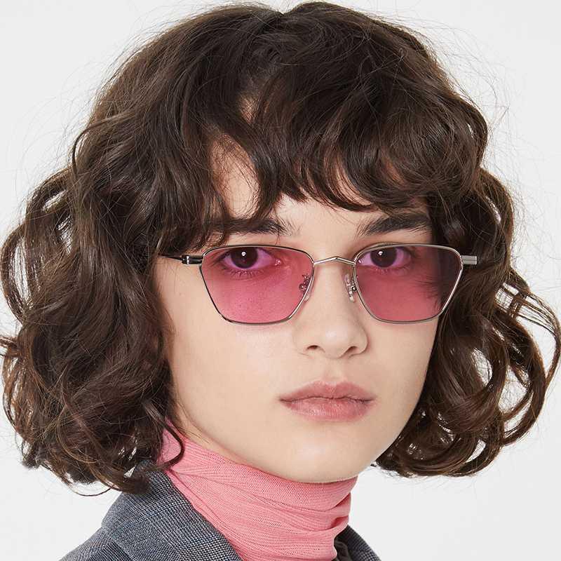 occhio nuovo metallo Piccola Struttura di gatto occhiali da sole lenti Marine di colore della gelatina di modo delle signore semplici occhiali da sole