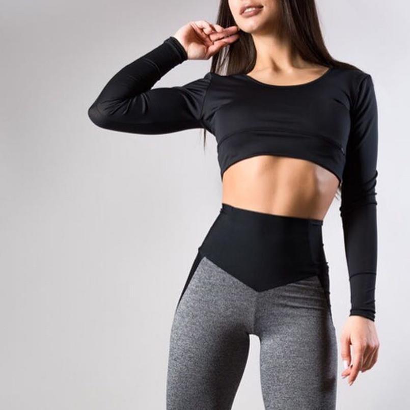 여성 바지 스포츠 스포츠 스포츠웨어 스트레치 피트니스 레깅스 원활한 배가 통제 체육관 압축 바지 2020 25