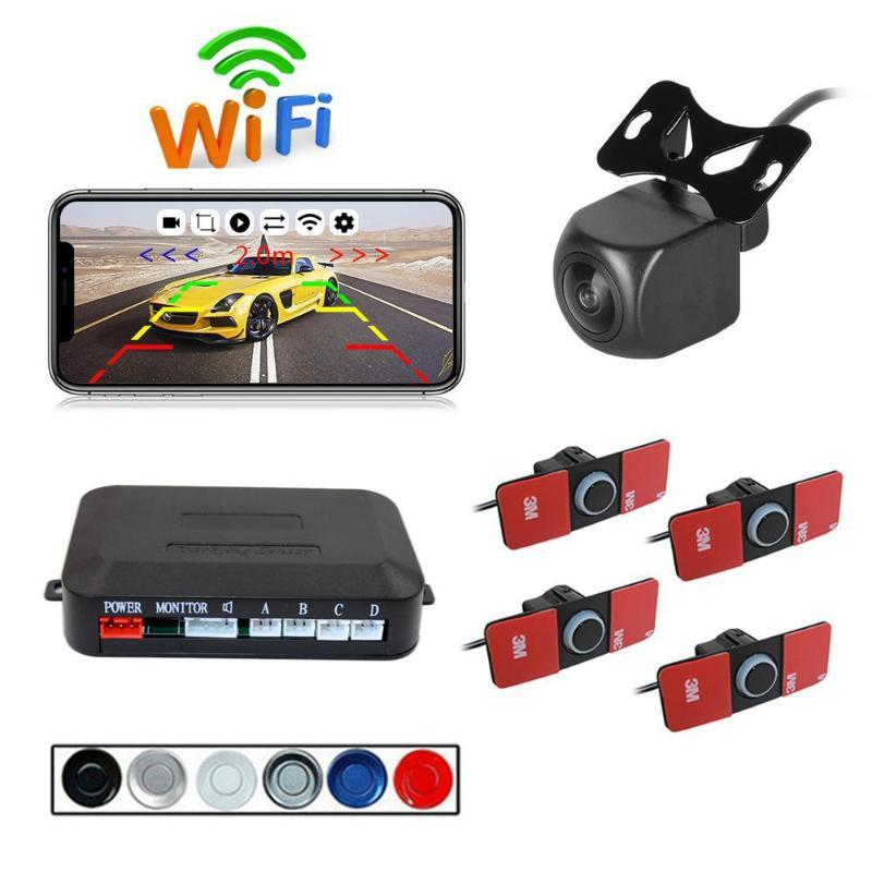 Wireless WIFI Car Rear View Reverse Parking Cam Radar Night Vision PZ600wifi-16.5 Parking camera set