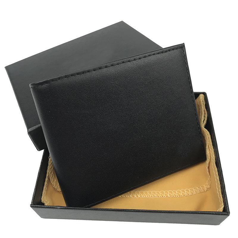 Los nuevos titulares de la tarjeta superior del diseñador de la marca de los hombres de las carpetas del cuero puros de alta calidad a corto caja monedero de la manera titulares de tarjetas de corto ultrafinas