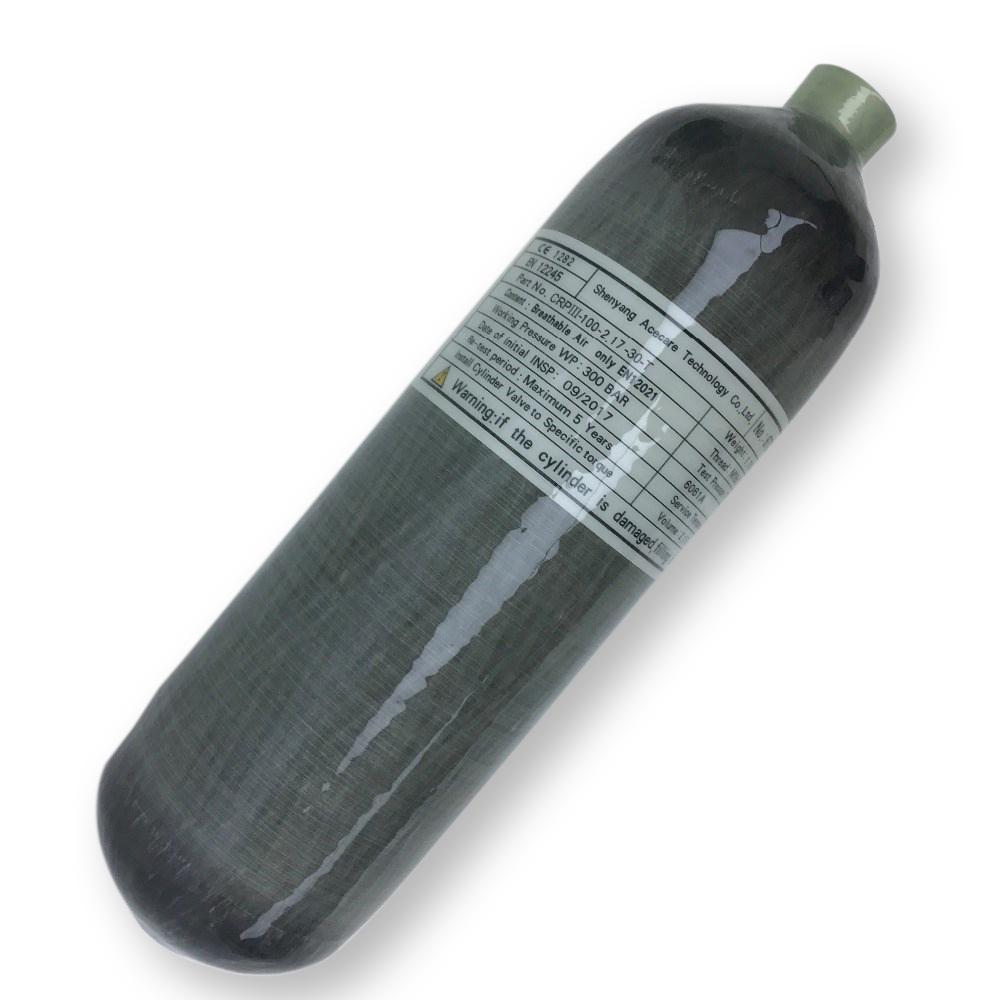 AC1217 Acecare 2.17L CE de alta presión de la fibra de carbono del cilindro de gas en venta Equipo de Caza presión del aire comprimido pistola de respirar bajo el agua