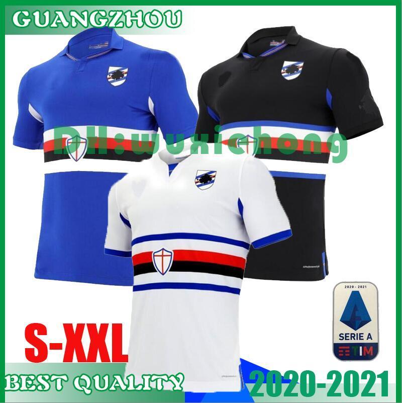2020 2021 Sampdoria camisa de futebol em casa 20 21 Murillo Linetty Jankto Yoshida Maroni Gabbiadini uniformes de futebol camisas topo tailândia S-XXL