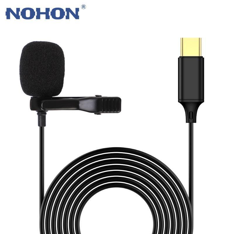 NOHON MINI Микрофон USB Тип C Для Huawei Mi Конденсатор Портативный Профессиональный Поток Аудио Лавальер