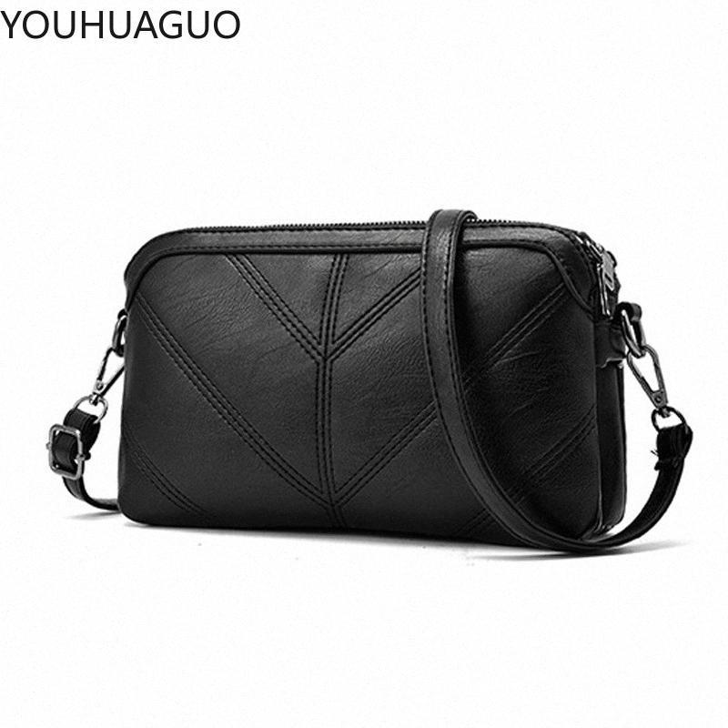 YOUHUAGUO 2020 Moda verano de las mujeres del bolso de cuero PU de los bolsos de hombro del bolso pequeño colgajo Cruzado Bolsas para mujeres Bolsas de mensajero Brth #