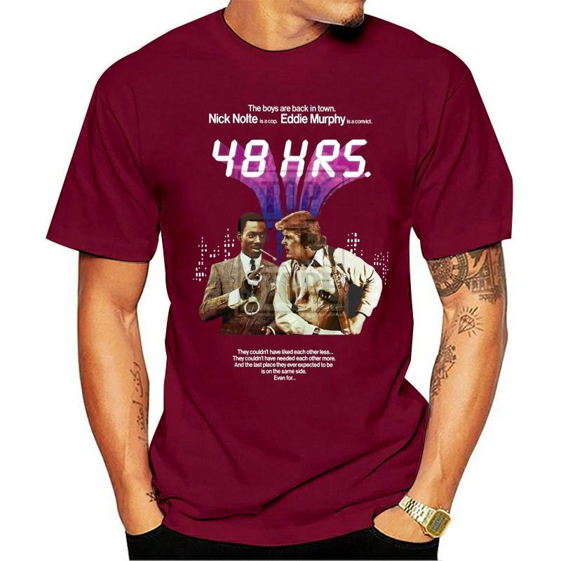 48 Horas del cartel de película camiseta Todos los tamaños S Para 4xl Eddie Murphy Nick Nolte