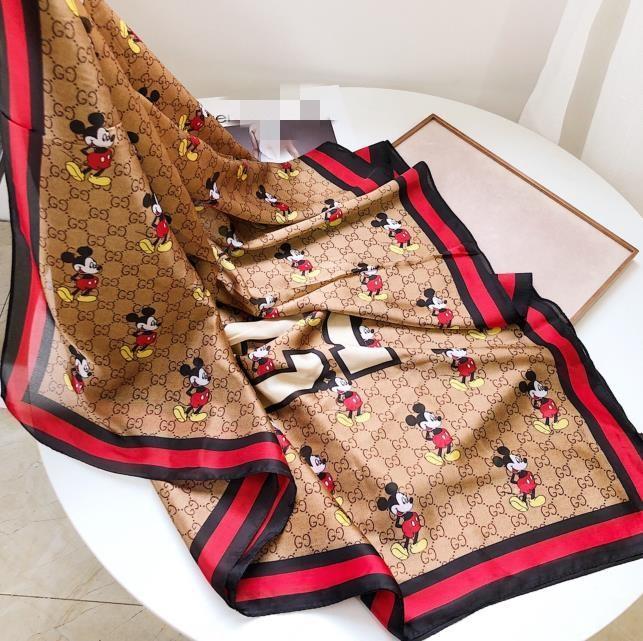 Hot vente designers de luxe haut de gamme de la mode écharpe de soie dame printemps et en été nouveau imprimé foulard 180 * 90cm