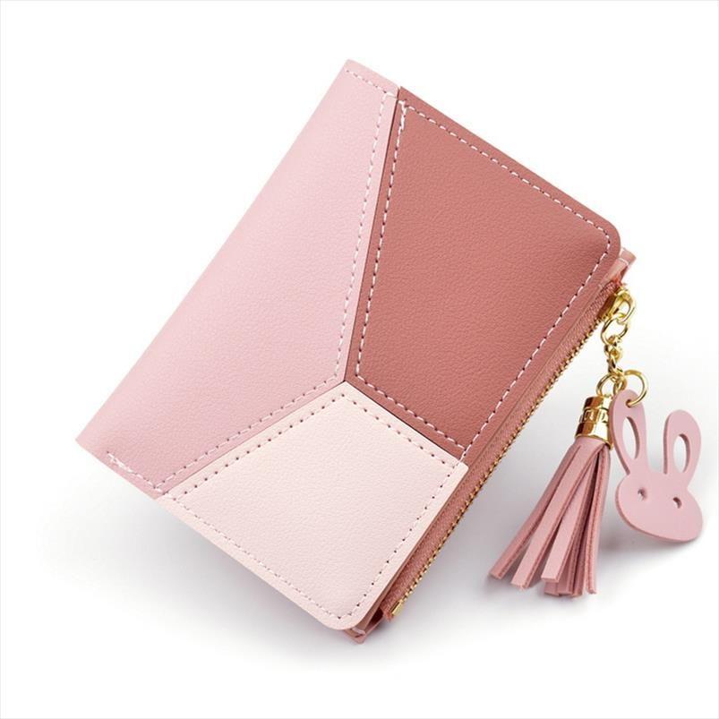 Carteira Womens Tassel bonito do estudante Pendant Tendência Pequeno Moda PU Carteira 2019 Coin Purse Mulheres Cartão Ladies Bag para as Mulheres