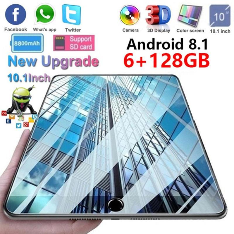 6G+128GB Tablets PC 4G LTE Tablets 10.1 inch Android 9.0 Tablet Pc CE Brand Google Play Dual SIM Card GPS WiFi Bluetooth