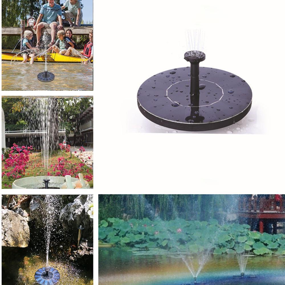 Mini fontana di energia solare Water Garden stagno 30-45cm pannello solare esterno Bird Bath galleggiante Fontana di acqua della pompa Garden Decor