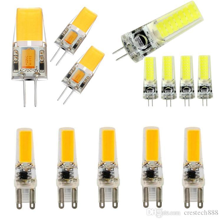 LED G4 G9 مصباح لمبة AC / DC يعتم 12V 220V 2W 3W 4W 5W COB SMD LED إضاءة الأنوار استبدال الهالوجين أضواء الثريا