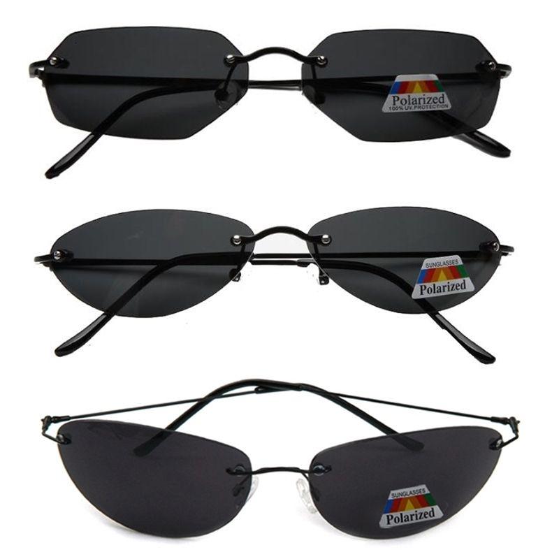 3pcs Moda Raffreddare Matrix Neo Style Occhiali da sole polarizzati Ultralight senza orlo degli uomini di guida di disegno di marca di vetro di Sun Oculos De s