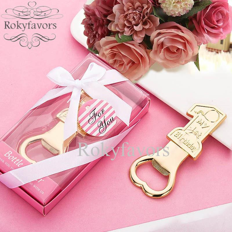 20PCS Number 1 Bottle Opener Party Favors Christening Baptism Gifts 1 Year Birthday Present Baby Shower Event Giveaways