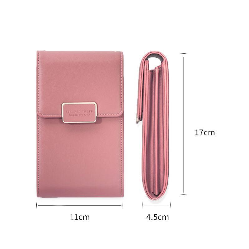 Съемный маленький Crossbody мобильный телефон на плечо мешок для ремня женской кошельки с помощью кошелька смартфон для кожи DTGFF