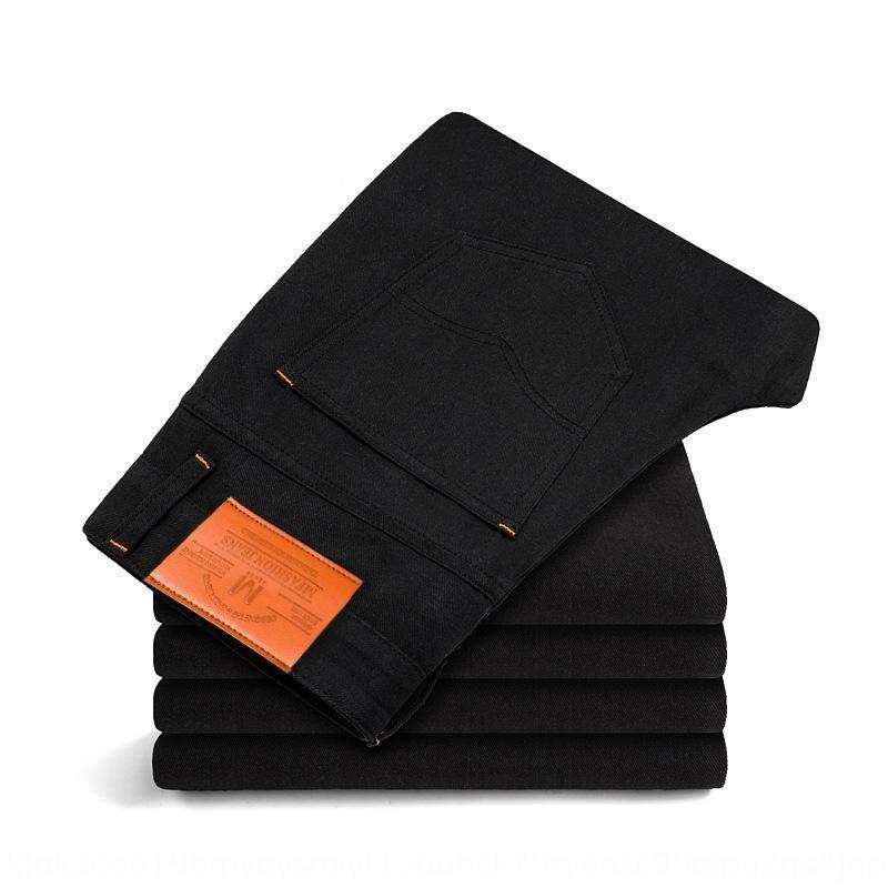 jycK3 306 schwarz und Männer Jeans Mode und kleine blaue dünne Art und Weise der koreanischen Art Jeans gerade IOjnj