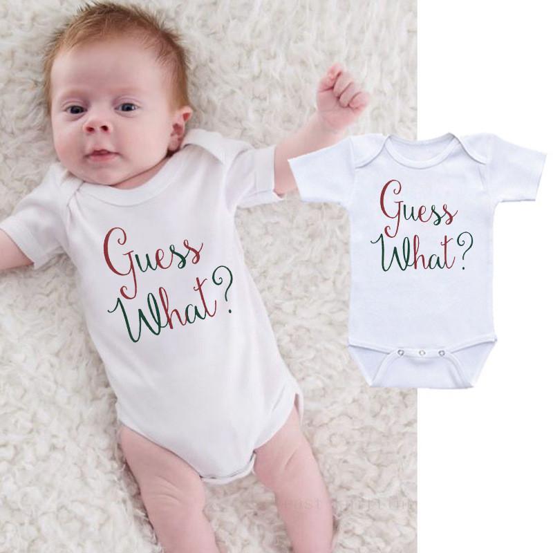 Noël Babys Tenues 0-24M été Vêtements de bébé nouveau-né à manches courtes bébé garçon filles Romper Tenues enfants Outwear Outfit