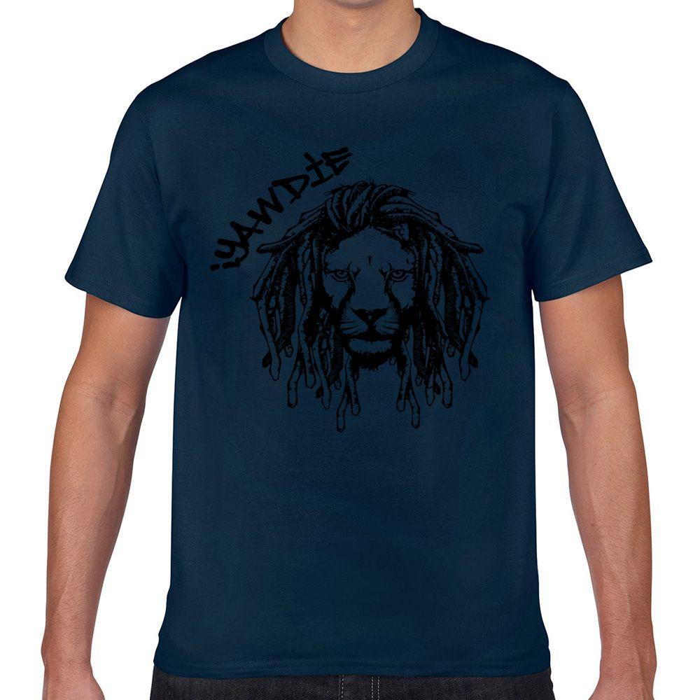 Tops T-Shirt Männer Dread Lion Schwarz Weiß Lustige Harajuku Short Male T-Shirt