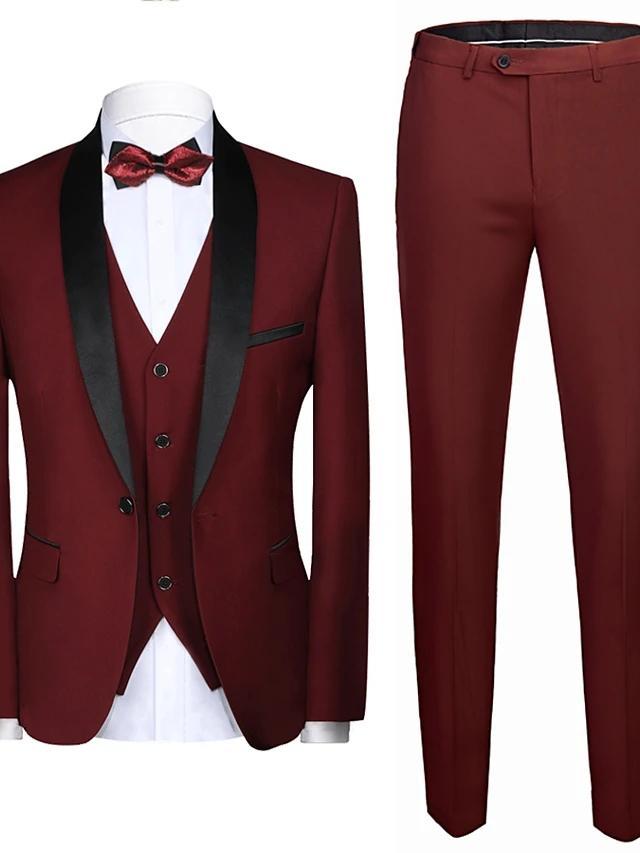 Damat Smokin Slim Fit Custom Made Suit Bordo Kırmızı 2021 Leaves Tasarım Freze Giyim Akşam Yemeği