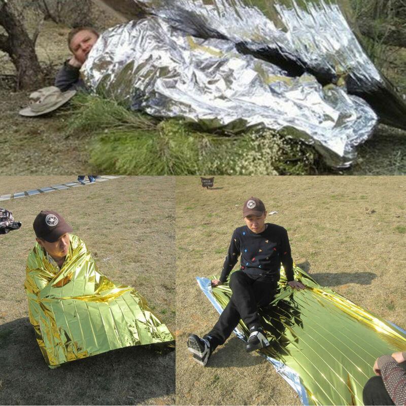 New Fashion Waterproof Emergency Solar Blanket Safety Survival Insulating Mylar Thermal Heat