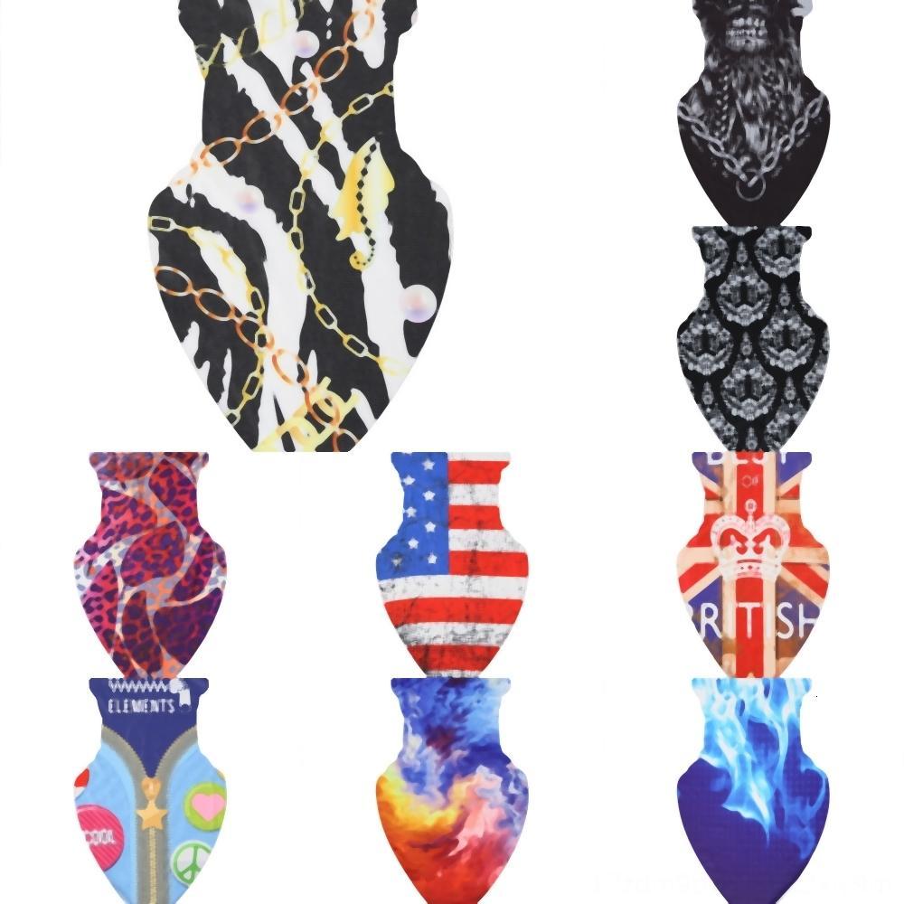 Las mujeres bufandas del pañuelo de los hombres cráneo del pasamontañas Ciclismo cara Triángulo Máscara Deportes Senderismo impresión Brazo antitranspirante Toalla de seda elástica de hielo F