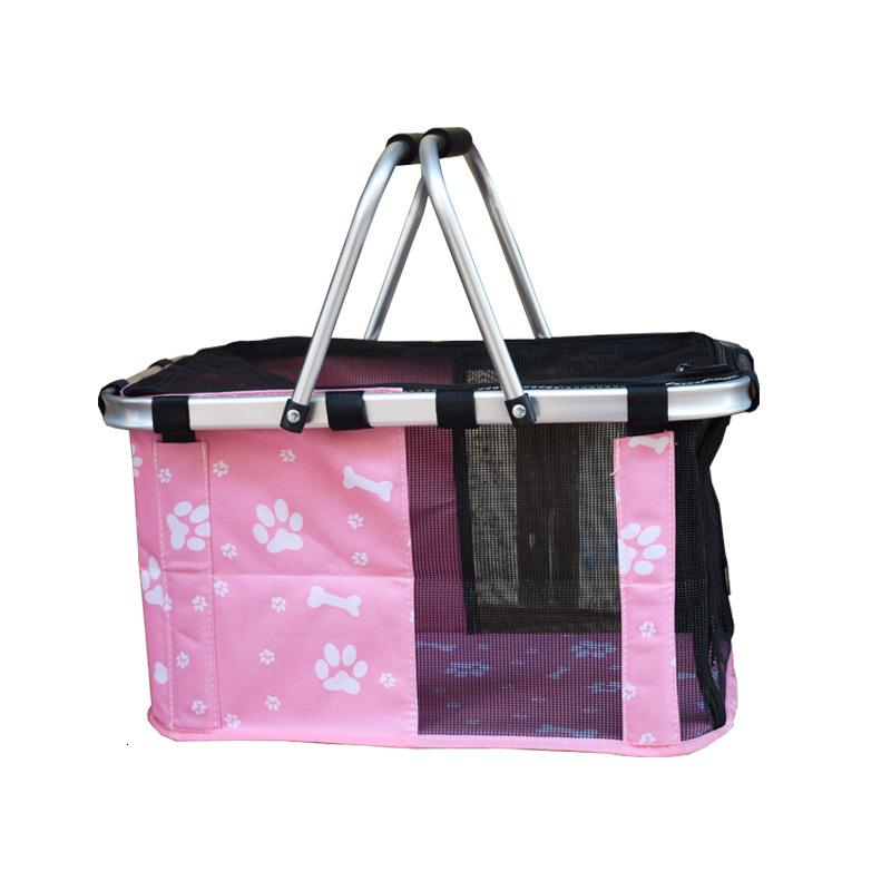 Oxford Cloth Pet Portable Folding Shopping Travel Dog Handbag Hand Bag Breathable Sport Print Bicycle Carriers Baskets