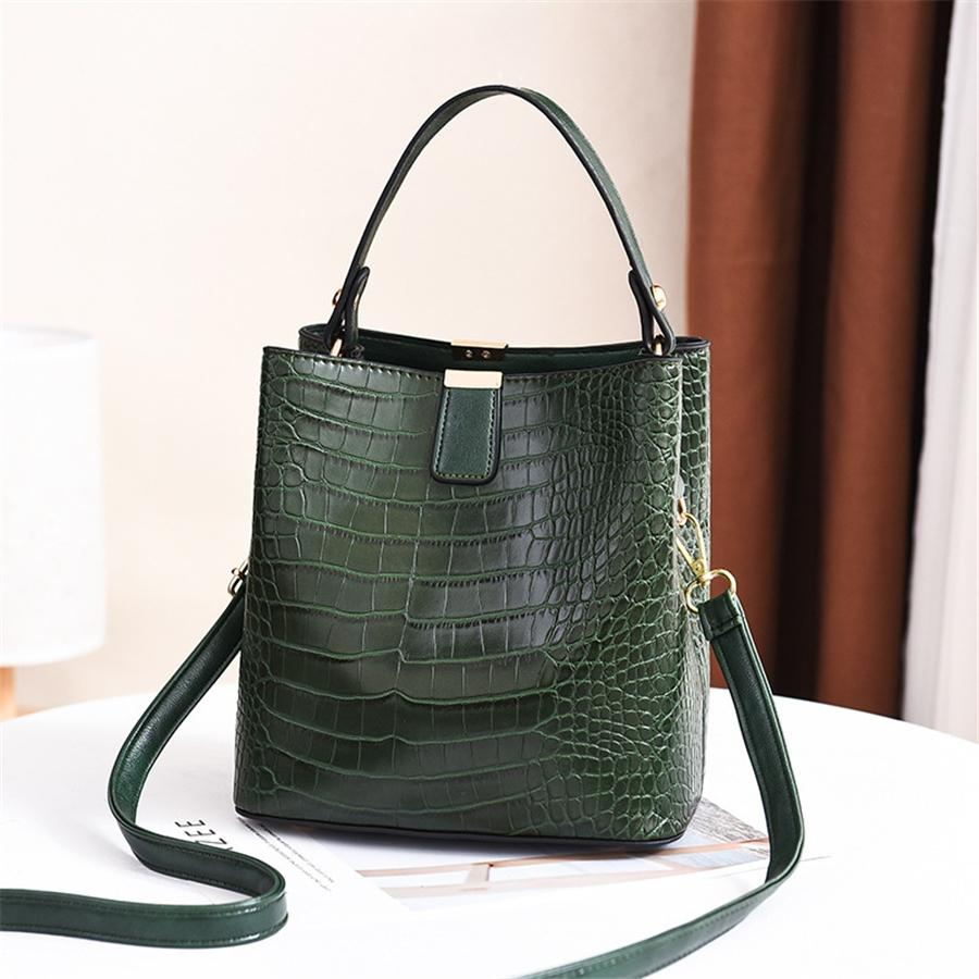 Bolsa de mano las mujeres de la vendimia simple de un hombro hebilla bolsas de mensajero de Crossbody del color sólido # 483