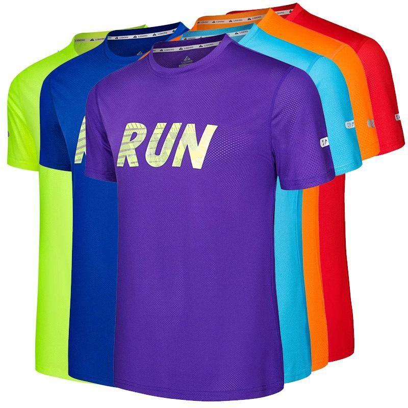 Camicie esegue Active magliette sportivo Sport Survêtement Uomo maniche corte rapidi di formazione a secco Uomini ospiti migliore Tee Abbigliamento