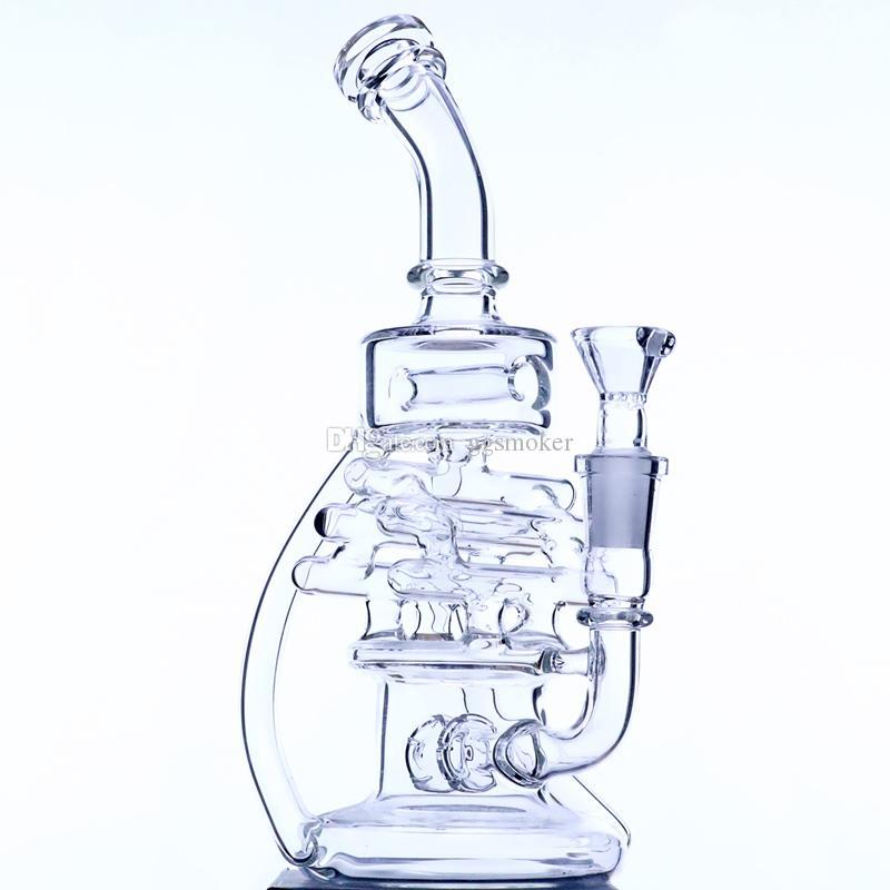 """9"""" riciclatore 14 millimetri pollici femmina joint"""" vetro bong tubo di tabacco acqua bong riciclatore olio rig percolatore"""
