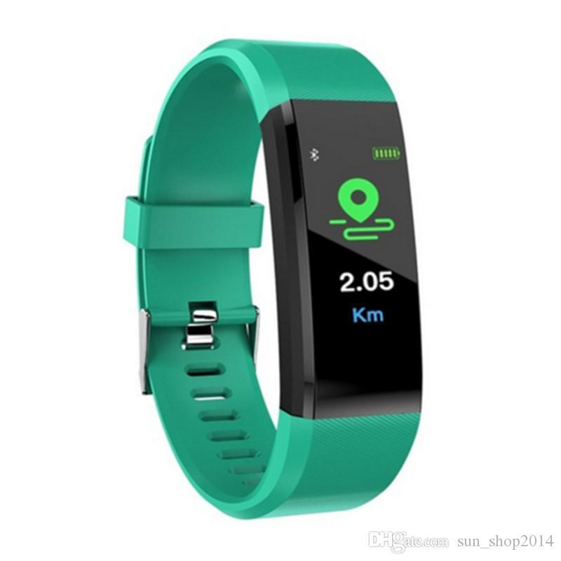 Sport ID115PLUS Smart Band Watch for Men Women Color Screen IP67 Waterproof Heart Rate Blood Pressure Pedometer Smart Bracelet