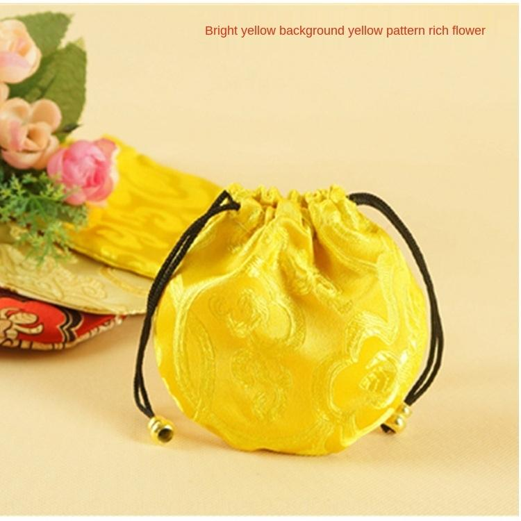 64l6W Buddha agrupados pequena jóia pano embalagem brocado cetim de armazenamento Embalagem de armazenamento saco pulseira talão saco de jogo literário