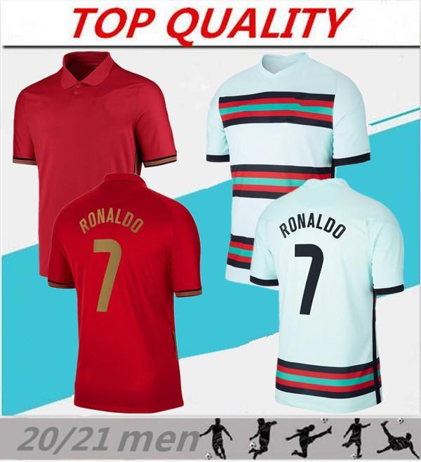 Maillot de football de l'équipe nationale du Portugal 2020 2021 pour hommes à domicile uniformes Maillots de football 20/21 Maillot de foot Ronaldo Camiseta de Fútbol