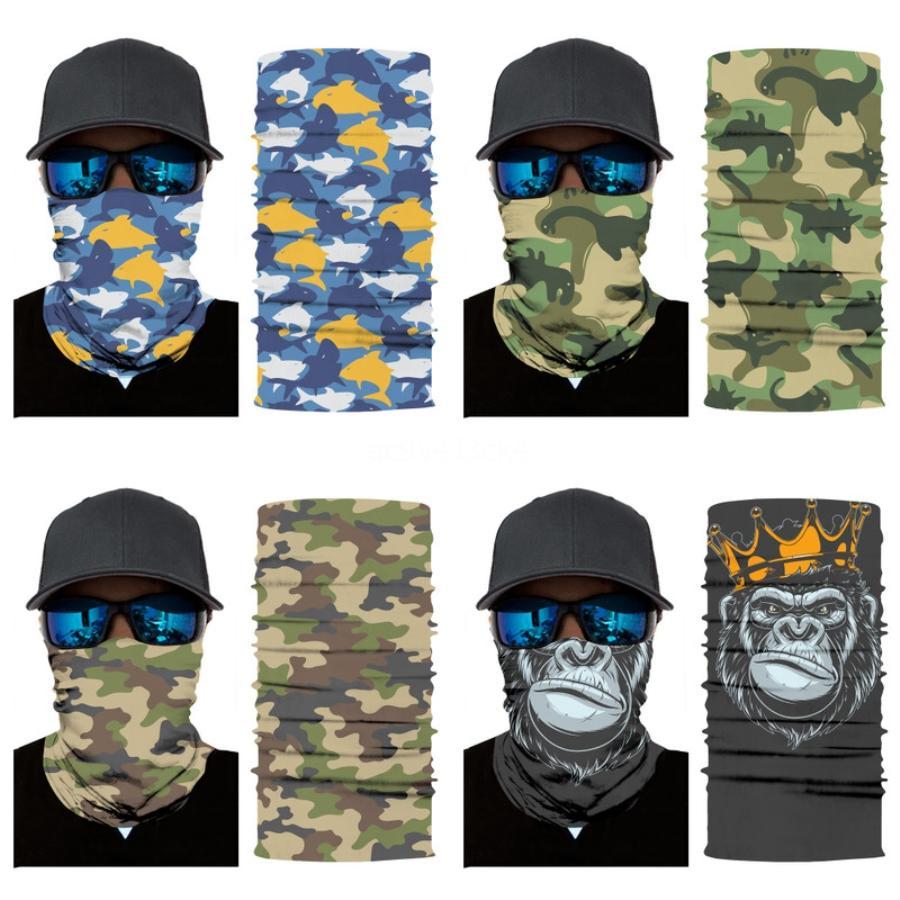 Animal Print Máscaras fresco para los hombres de las mujeres de la bici de ciclo media mascarilla de la bufanda de deporte al aire libre Senderismo Paintball Máscaras Nº 186