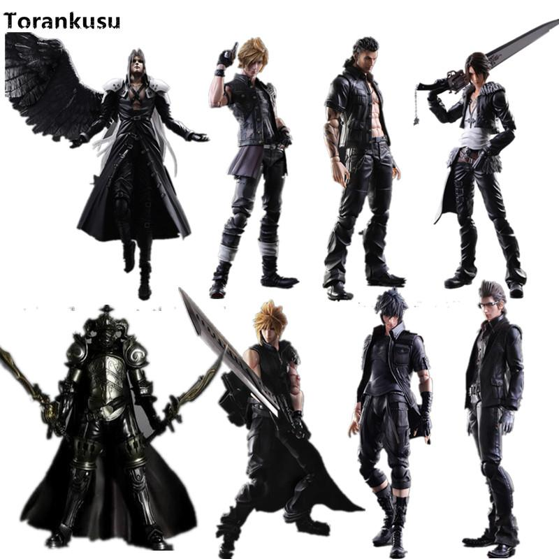Final Fantasy Play Arts Kai Action Figure 250mm Cloud Sephiroth Squall PVC Anime Toy Collection Model Figurine Play Arts Kai T190912