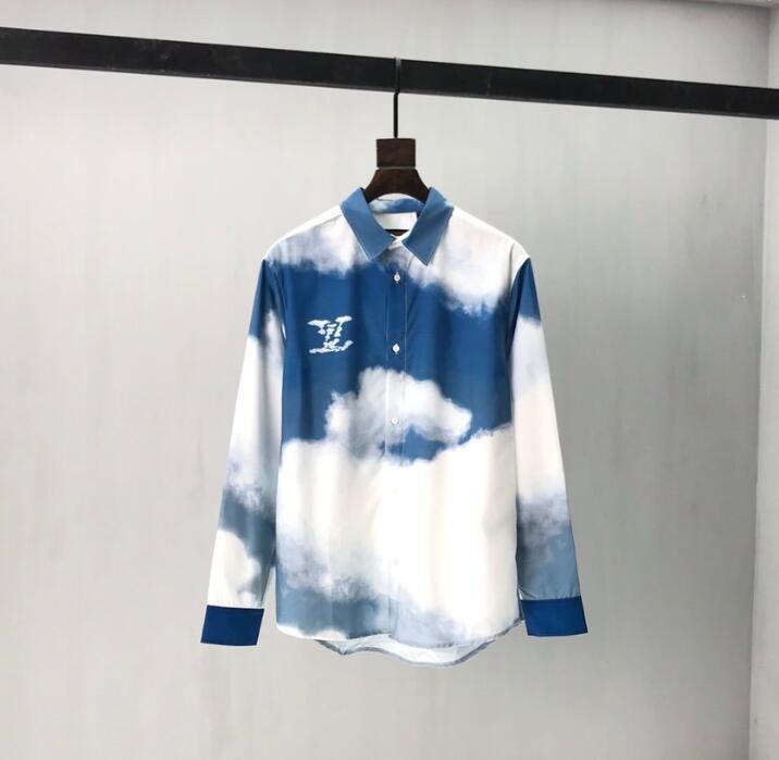 20SS França última moda verão Itália shirts Basebol Céu Terra homens mulheres casuais algodão T preto branco