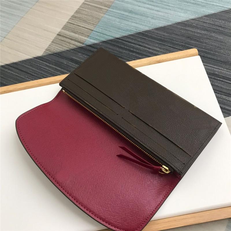 Monedero de la cremallera impresa personalizado de lujo Monedero largo clásica de calidad superior Brown de las mujeres con las ranuras para tarjeta para Lady