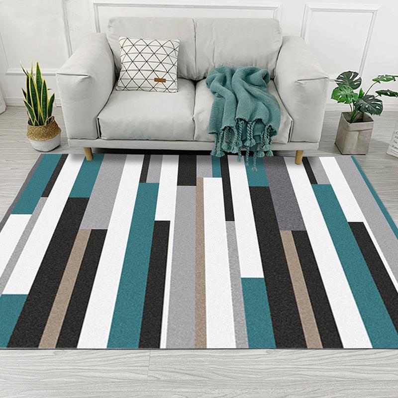 Habitación moderna simplicidad geométrica del arte alfombra para estar Dormitorio antideslizante estera del piso de la manera de Cocina Alfombras Alfombras personalizable
