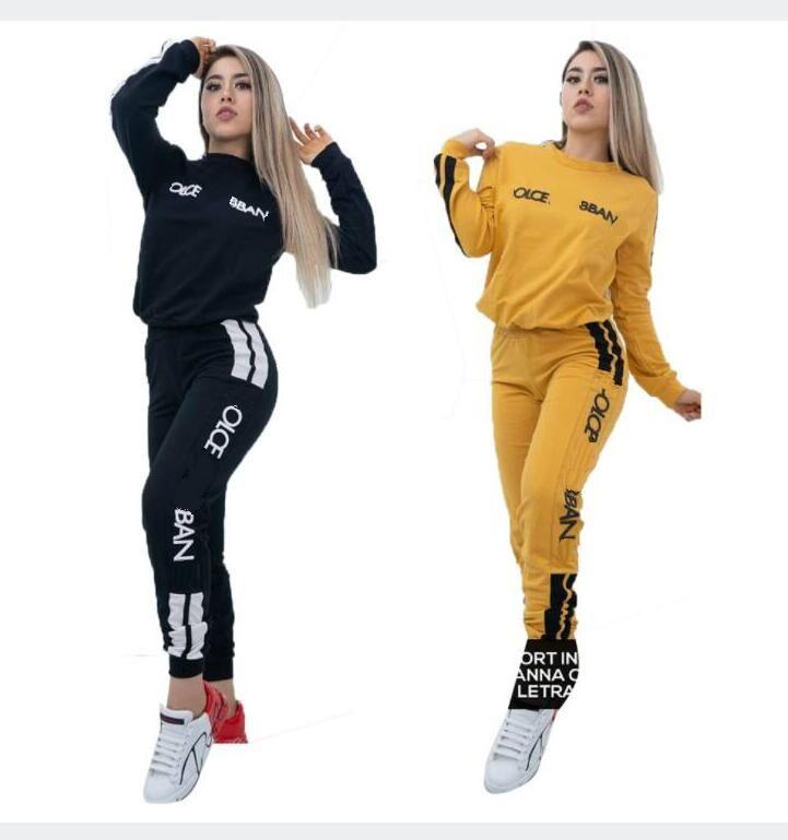 2020 Print Zweiteiler Frauen Outfits Langarm-T-Shirt und Hosenanzug Passende Produkte Frauen Anzug Sportanzug S-XXL