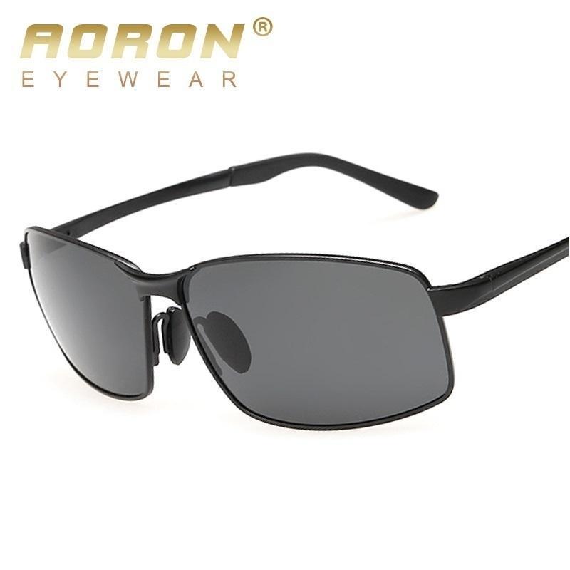 Conductor para hombres Aoron Moda Masculino Accesorios polarizados Conducción Gafas de vidrio Sol para gafas de sol KXMXA LWBTD
