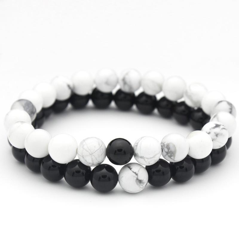 Trendy Männer Frauen Armbänder 8mm Lava Chakra Perlen elastischer Armband Naturstein Armband Modeschmuck Armband glänzender Schmuck