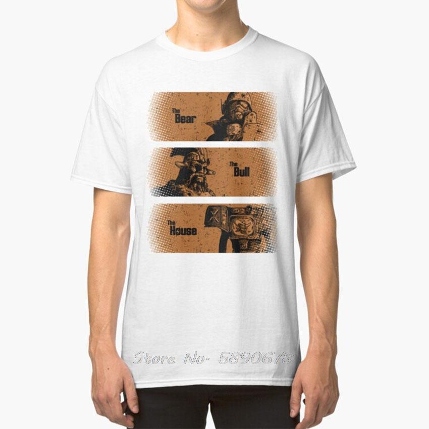 L'Orso Il Toro La Casa T - shirt New Vegas Bethesda Bethesda Game Obsidian gioco Videogame Ncr Veteran
